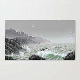 Misty Skies Canvas Print