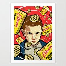 Stranger Waffles Art Print