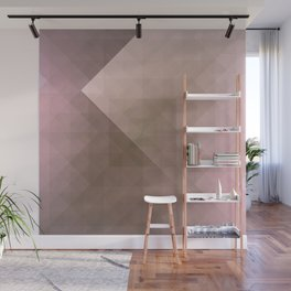Blush Folded Star Wall Mural