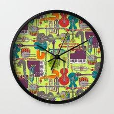 weave jazz multi Wall Clock