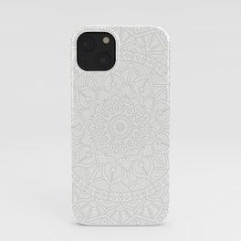 Cream on White Mandala Circle of Life iPhone Case