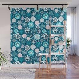 Magical snowflakes IV Wall Mural