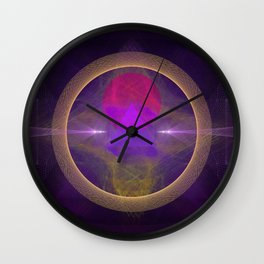 Abstract Art - Circuitry Wall Clock