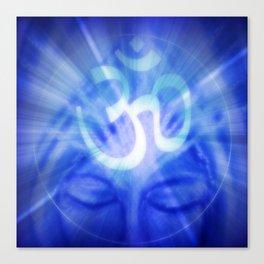 Om Namaste Indigo Healing  Canvas Print