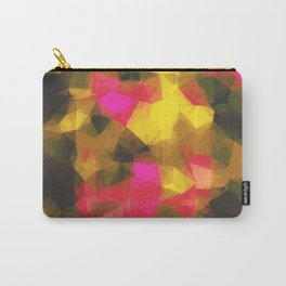 psychedelic geometric polygon shape pattern abstract in pink yellow green Carry-All Pouch