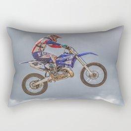 motocross biker Rectangular Pillow