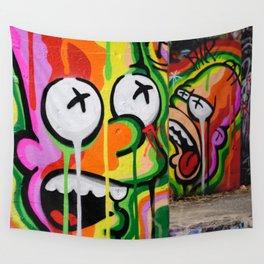 Cool Urban Cartoon Graffiti Art Wall Tapestry