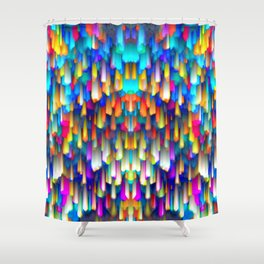 Colorful digital art splashing G390 Shower Curtain