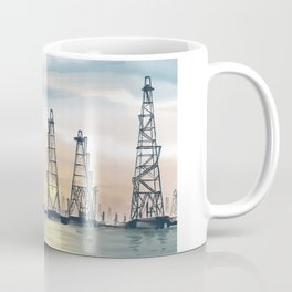 Hand Painting Offshore Oil Platform Coffee Mug