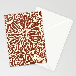 Marigold Lino Cut, Sepia Stationery Cards