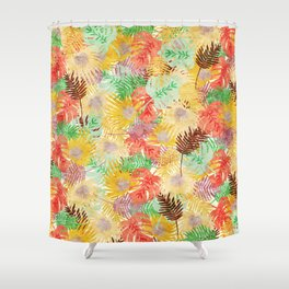 Tropical Leaves #02 Shower Curtain