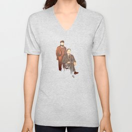 Dwight and Mose Schrute Unisex V-Neck