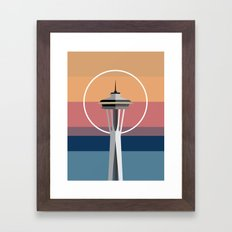 The Seattle Space Needle Framed Art Print