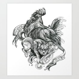 Inktober 2018: Ghost Chicken Art Print
