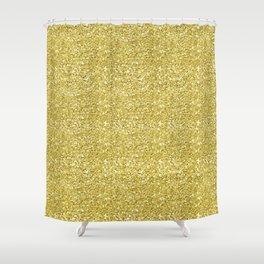 Chunky gold glitter Shower Curtain