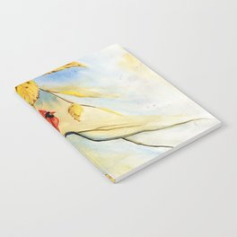 Cardinal on birch Tree Notebook