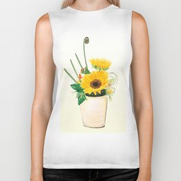 sunflower arrangement Biker Tank