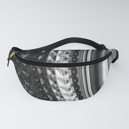 Shimmering textures of laundry machine drum -- Everyday art Fanny Pack