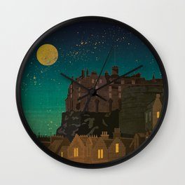 Scotland, Edinburgh Wall Clock