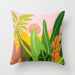 Jungle Morning Throw Pillow
