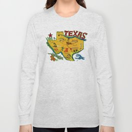 Postcard from Texas print Long Sleeve T-shirt