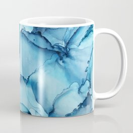 The Blue Abyss - Alcohol Ink Painting Coffee Mug