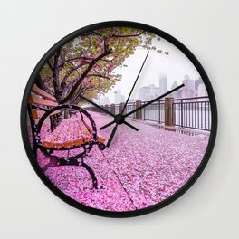 The sweet scent of spring Wall Clock