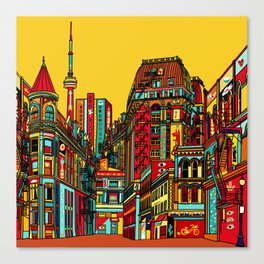 Sound of the city Canvas Print