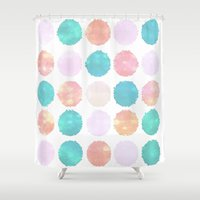 doors Shower Curtains featuring Glass Doors by Bunhugger Design
