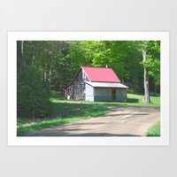 cabin Art Prints featuring Cabin by Lyn Potter