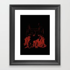 Zombie Crossing Framed Art Print