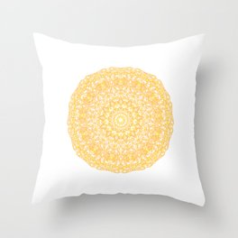 Mandala 13 / 1 yellow Citrine Throw Pillow