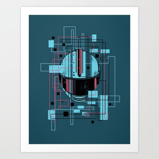 Reticent. Art Print