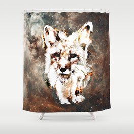 Space Fox no4 Shower Curtain