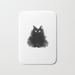 Duster - Black Cat Drawing Bath Mat