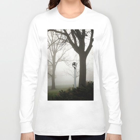 Misty school bell in autumn Long Sleeve T-shirt