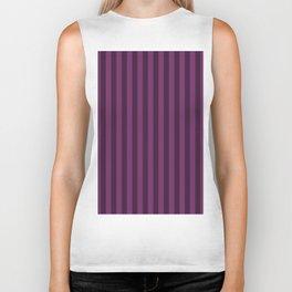 Byzantium Purple Stripes Pattern Biker Tank