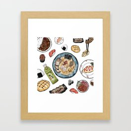 Favourite Japanese Foods Framed Art Print
