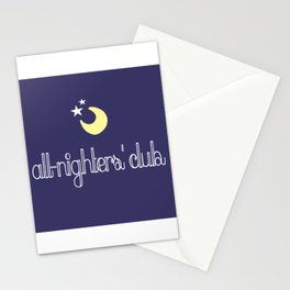 all-nighters' club Stationery Cards