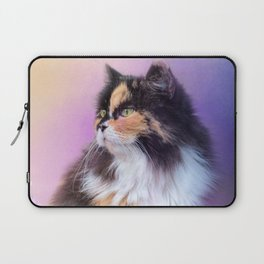 Calico Kitty In The Garden Laptop Sleeve
