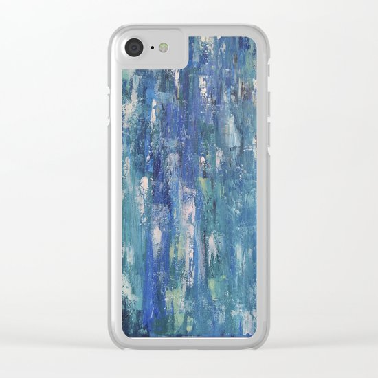 Abstract blue Clear iPhone Case