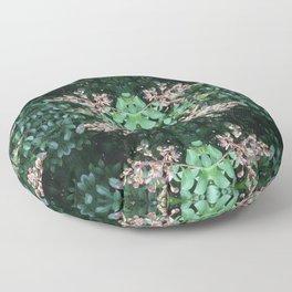 Crepe Myrtle Budding Pattern Floor Pillow