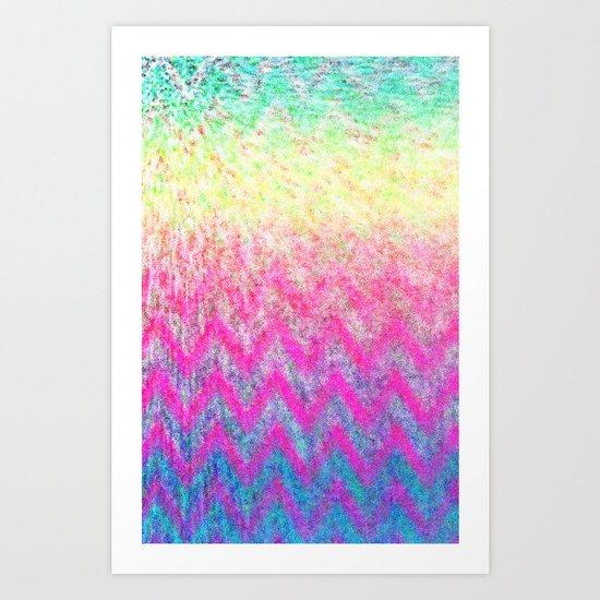Hippie Chevron Art Print