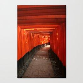 The Torri Gates of Fushimi Inari Taisha Canvas Print