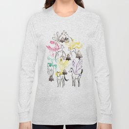 Pegasus in the forest Long Sleeve T-shirt