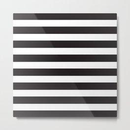Monochrome Straight Stripes Metal Print