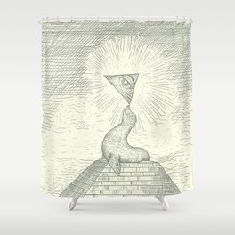 The Masonic Seal Shower Curtain