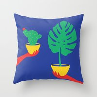 plants Throw Pillows featuring Plants by cristina benescu