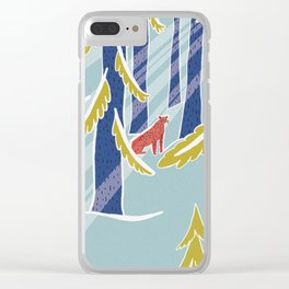 Swiss woods Clear iPhone Case