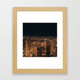 Somewhere in China – City by night Framed Art Print